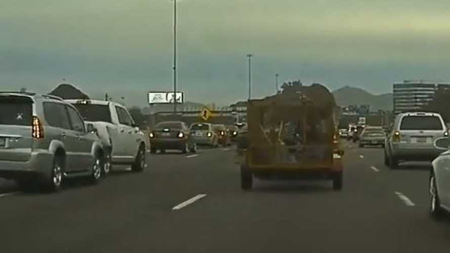 Watch Shoulder-Passing Toyota SUV Slam Into Ram Truck: TeslaCam Video