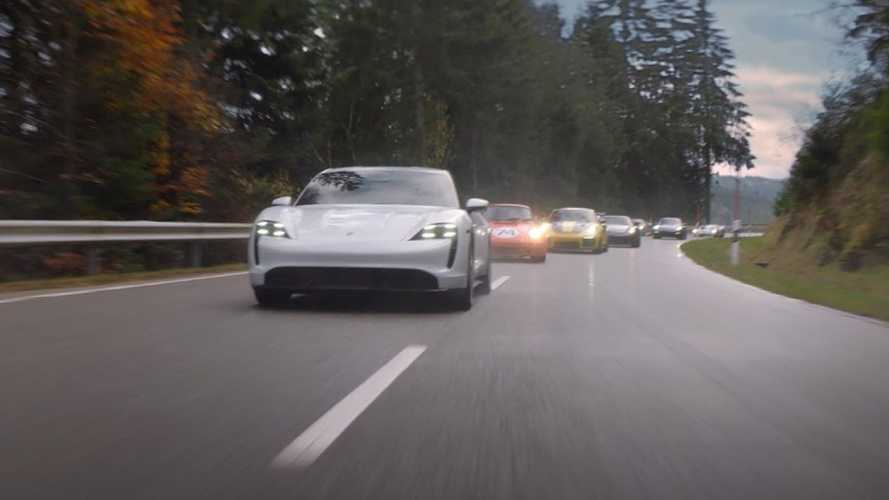 Porsche Goes Behind The Scenes Of Its Taycan Super Bowl Ad