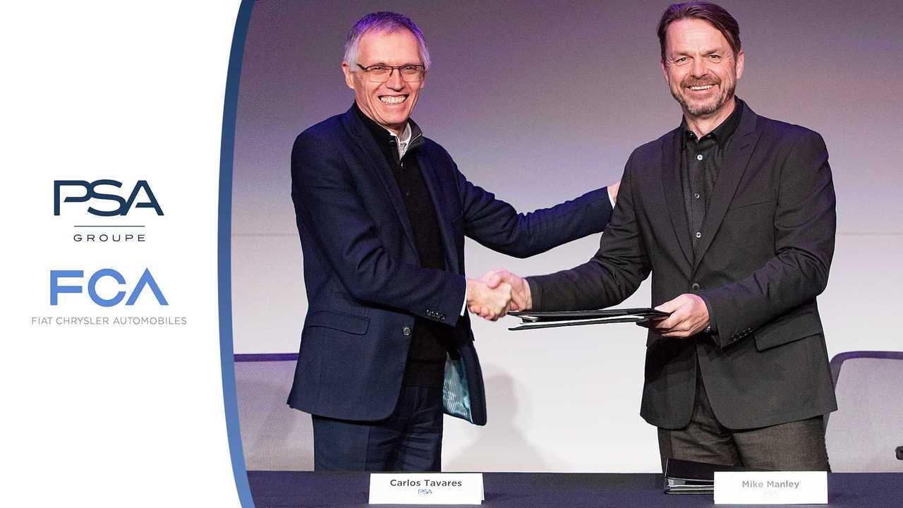 Firma accordo di fusione FCA PSA fra Carlos Tavares e Mike Manley