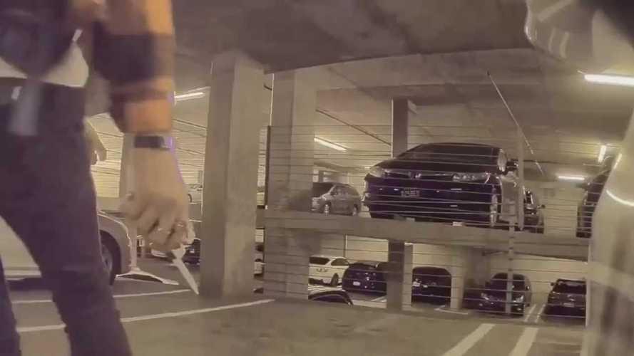 Tesla Sentry Mode Films Knife Attack On Model 3's Tire In California