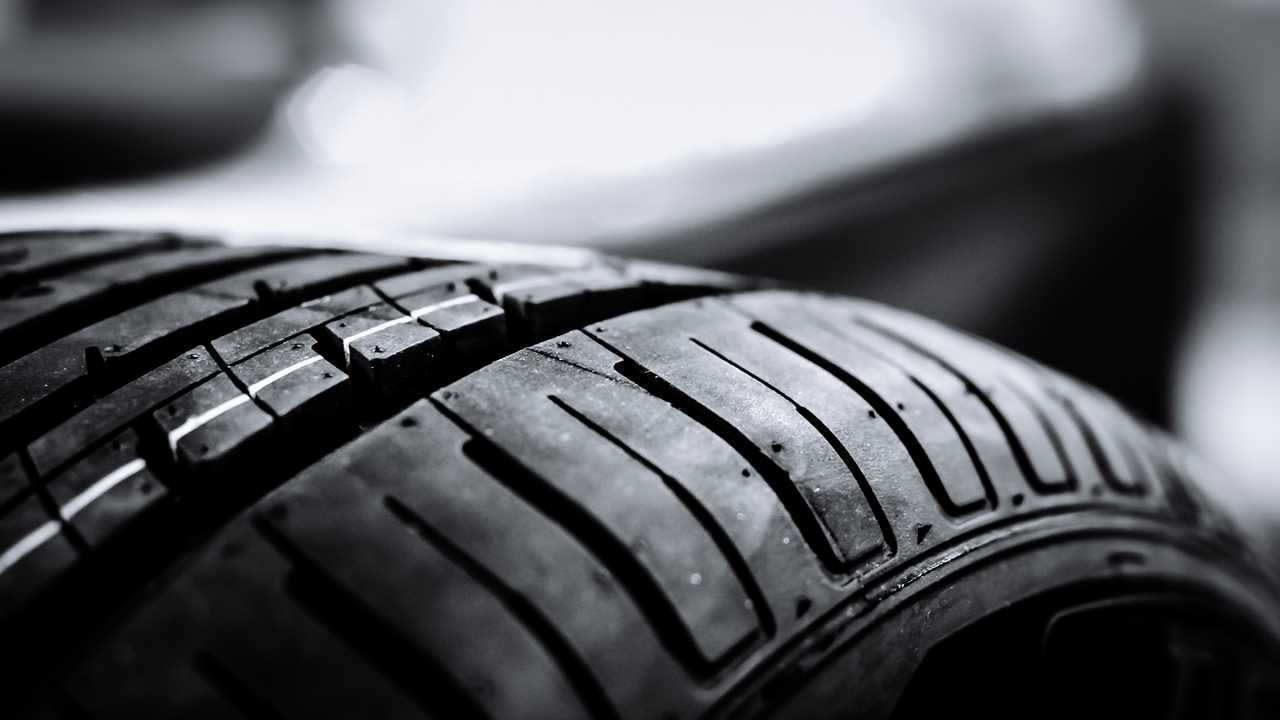 Tyre tread closeup