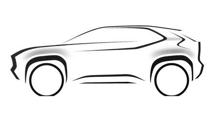 Toyota pubblica il primo teaser del crossover basato sulla Yaris