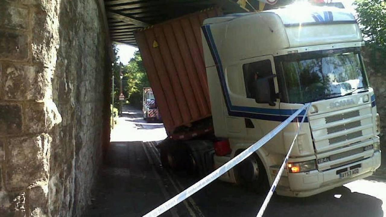 Truck Bridge Strike