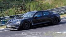 Porsche Mission E Spy Photos Nürburgring