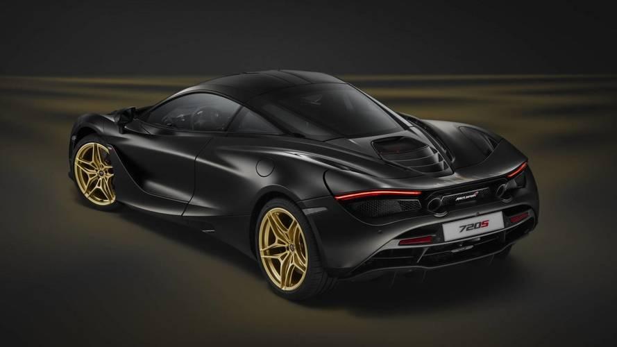 El exclusivo McLaren 720S, negro y dorado, debuta en el salón de Dubai