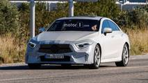 2018 Mercedes CLS with minimal camouflage spy photo