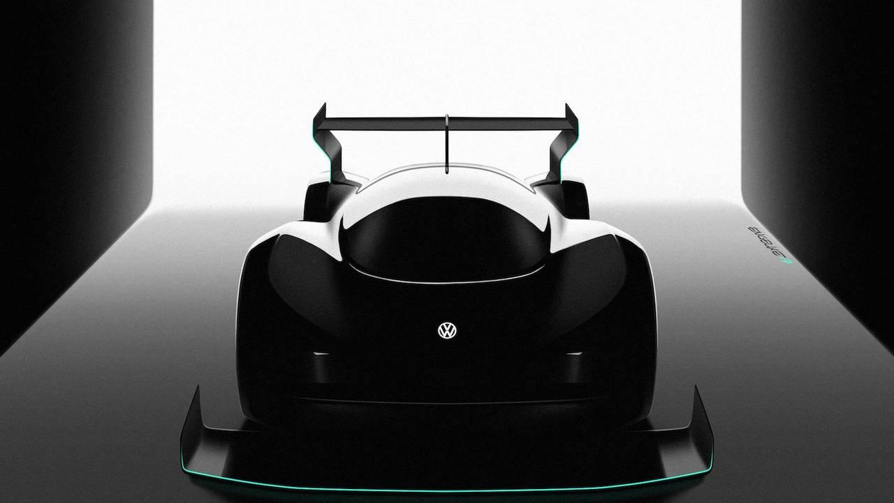 Volkswagen coche de carreras eléctrico Pikes Peak