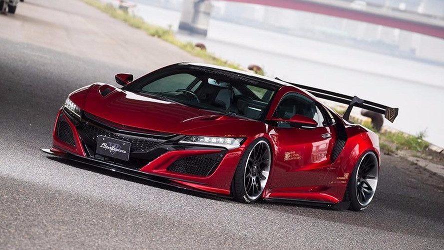 More Subdued Liberty Walk Acura NSX Body Kit Includes Big Wing - Acura body kits