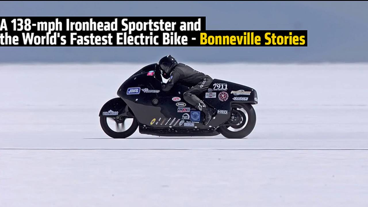 A 138-mph Ironhead Sportster and the World's Fastest Electric Bike - Bonneville Stories