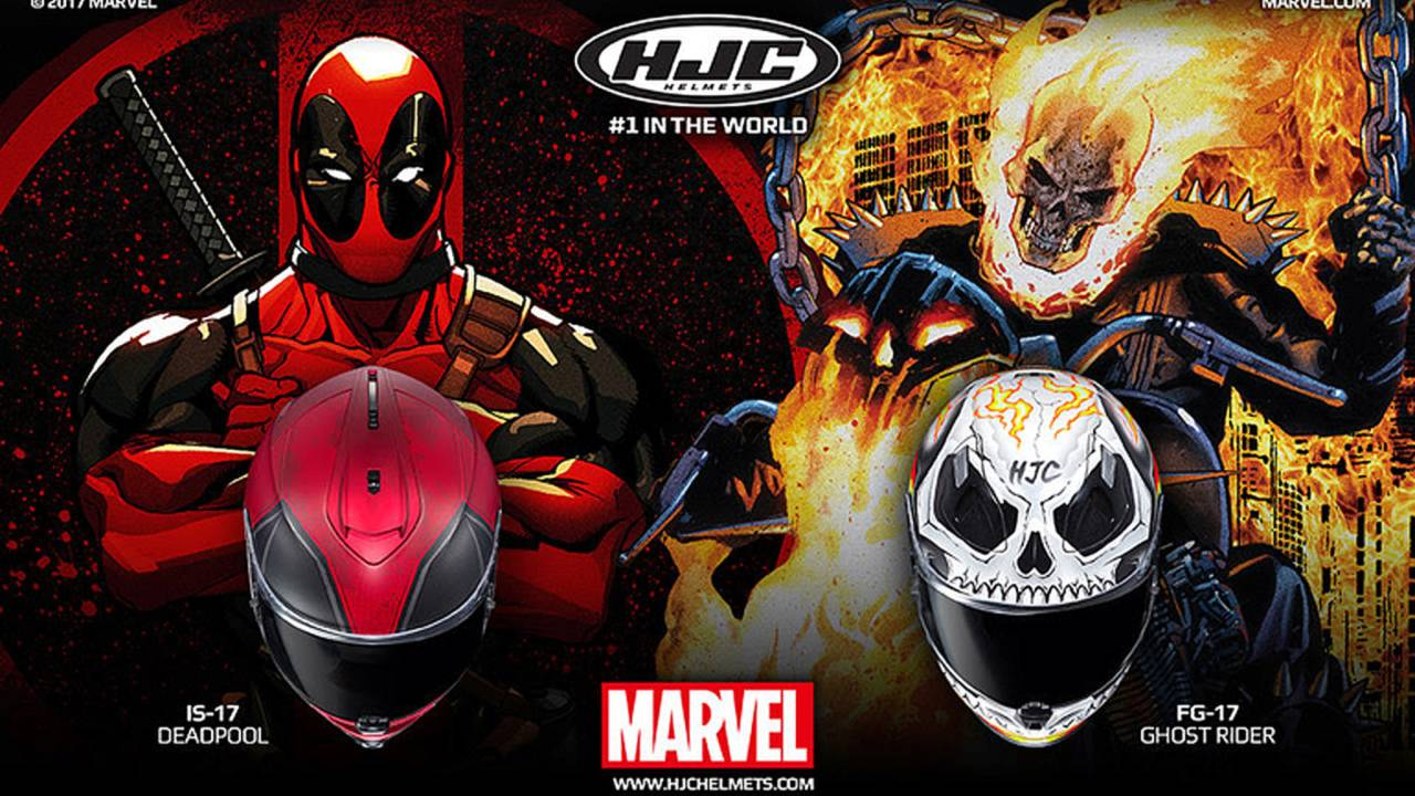 HJC Adds Deadpool and Ghost Rider Marvel Helmets