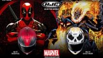 hjc adds deadpool and ghost rider marvel helmets
