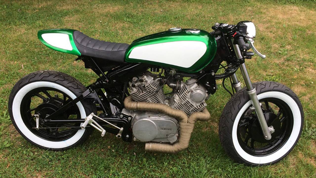 Shed-Built Virago Cafe Racer is a Vision in Green