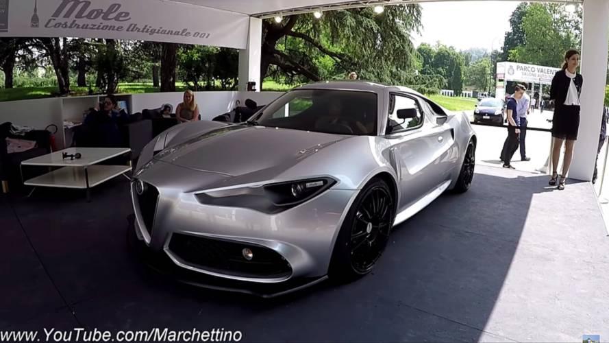 Alfa Romeo'nun yeni 4C konseptini canlı olarak görün
