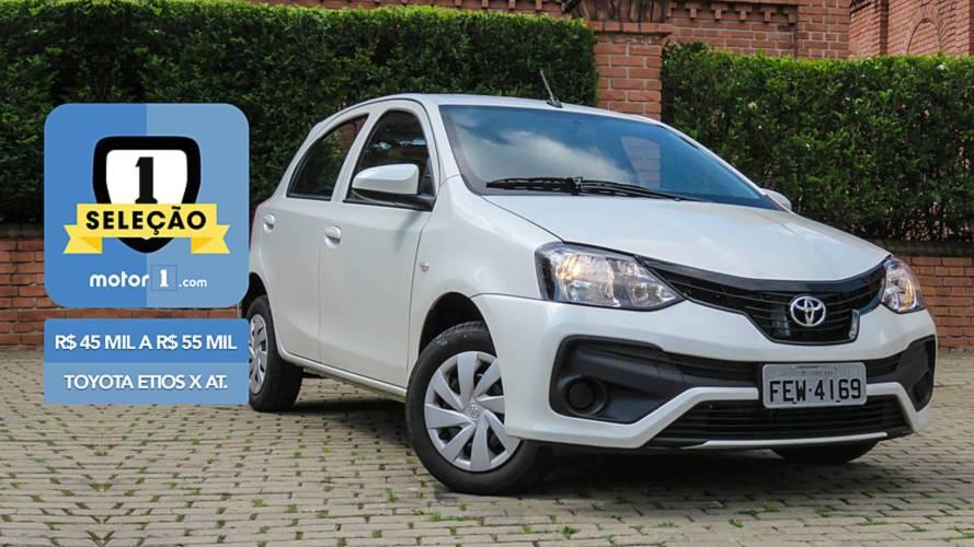 Seleção Motor1.com - Toyota Etios X automático vence categoria de R$ 45 mil a R$ 55 mil
