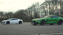 video honda nsx vs mercedes amg gt r