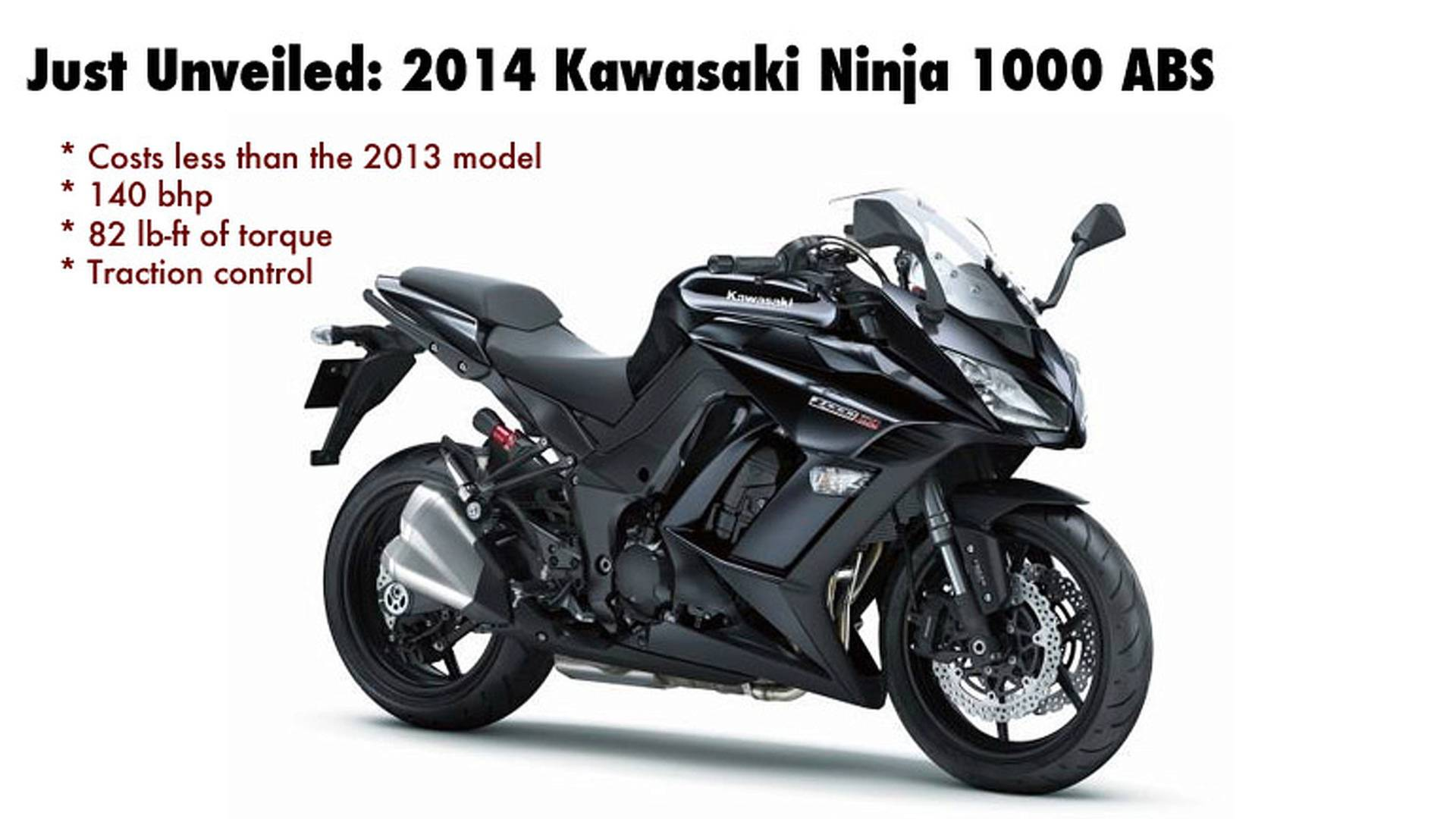 2014 Kawasaki Ninja 1000 ABS Upgraded With More Power, More Practicality