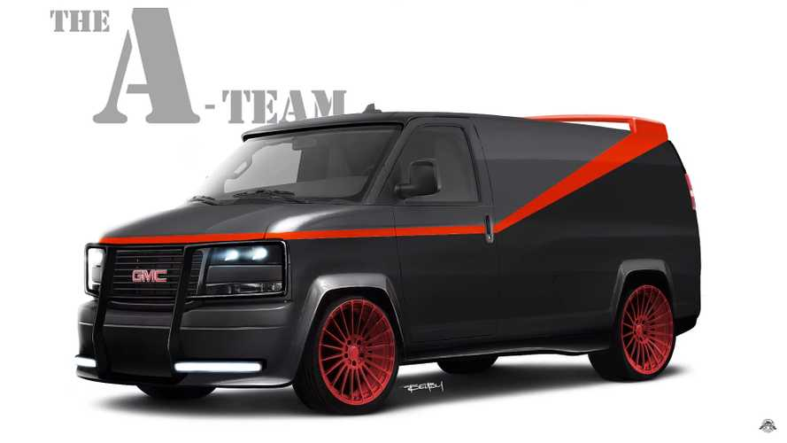 See The A-Team Van Get A Modern GMC Savana Digital Makeover