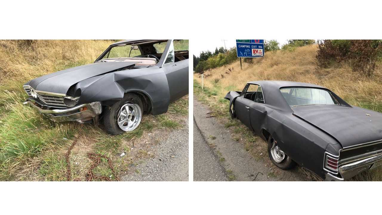 1967 Chevy Chevelle Drives Itself And Crashes, Too
