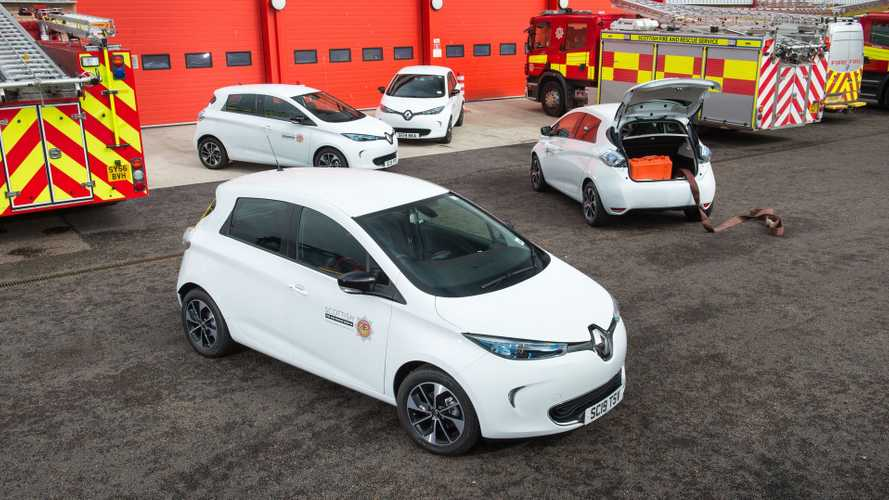 Scottish Fire & Rescue Service fleet going electric with Renault Zoe