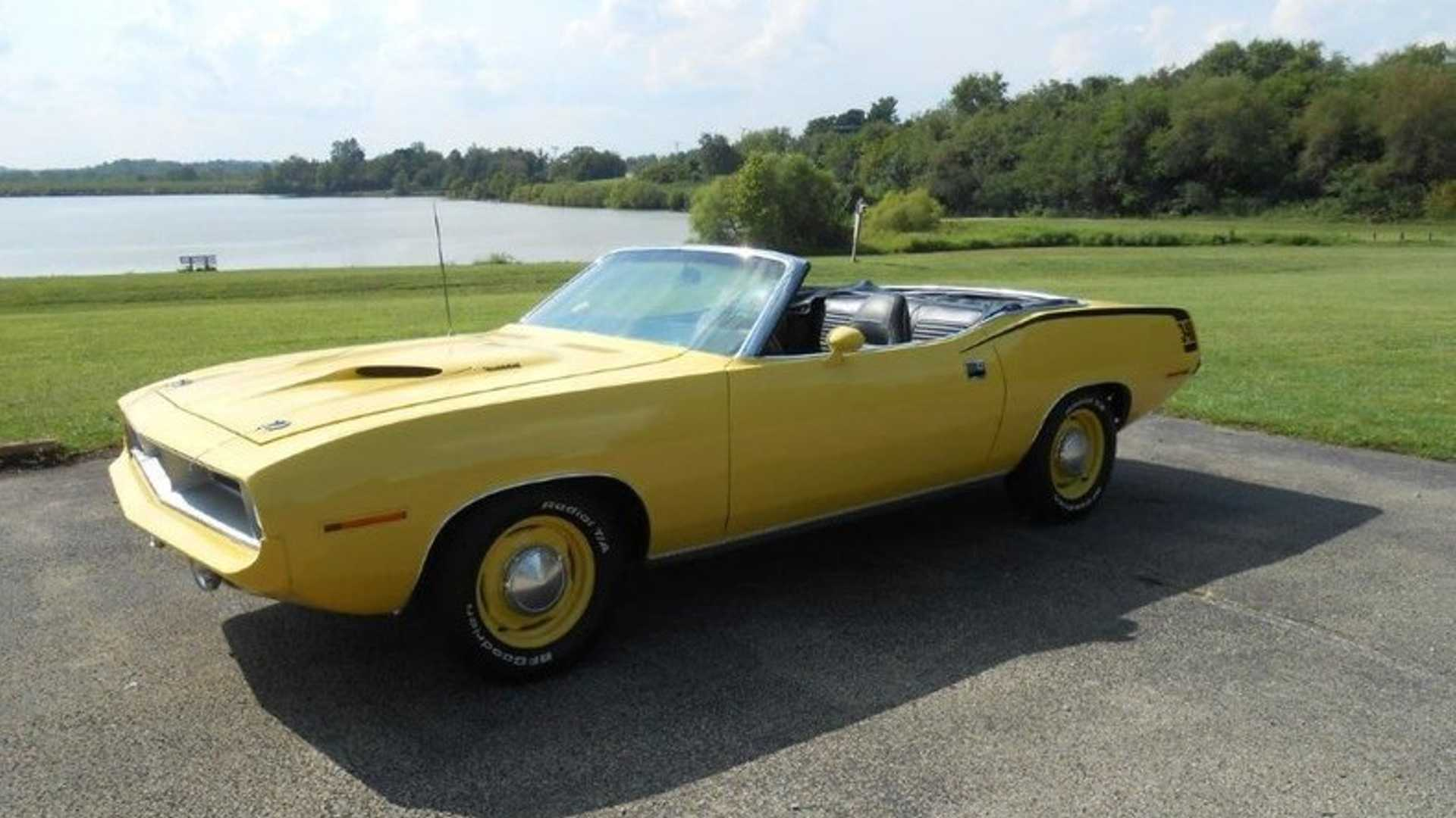 "[""Rare '70 'Cuda Convertible Is A Ray Of Sunshine""]"