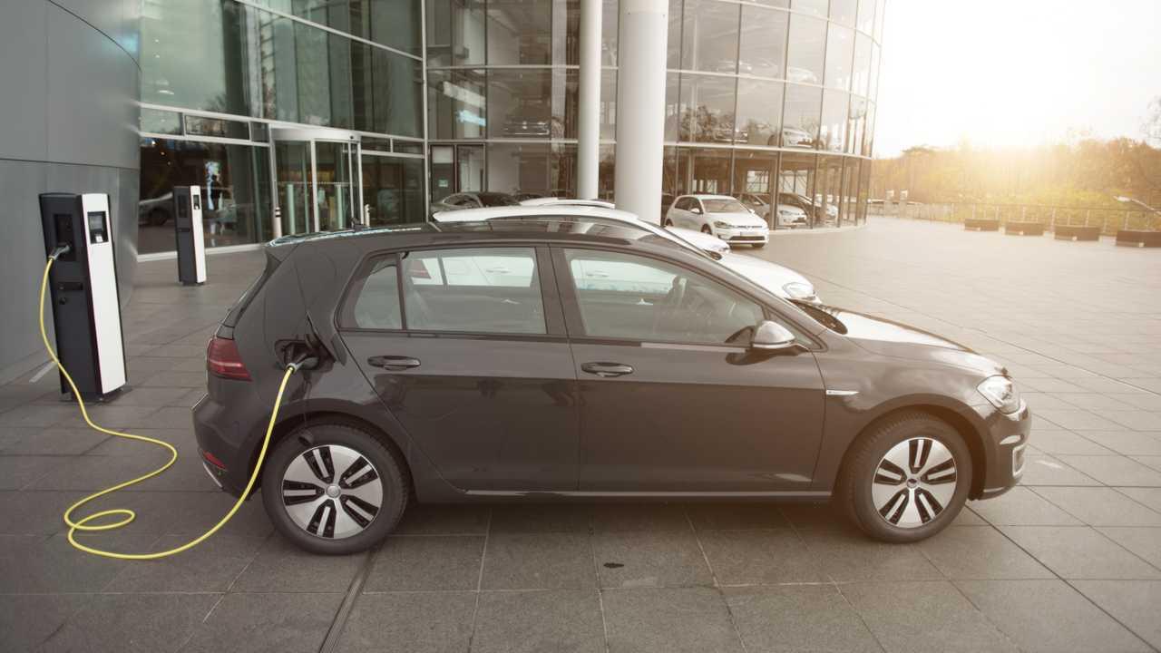 Company electric car fleet charging stations