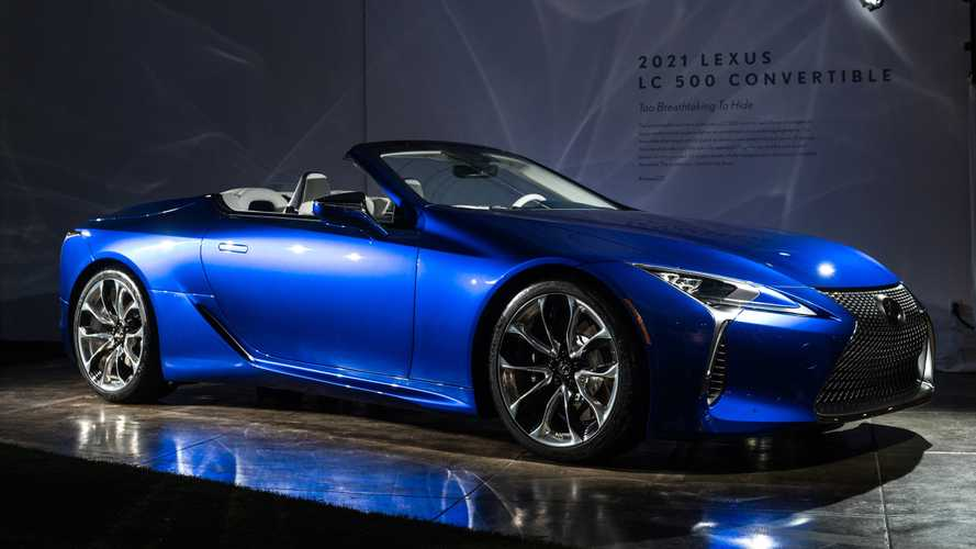 Lexus LC Convertible debuts its roofless shape in sunny LA