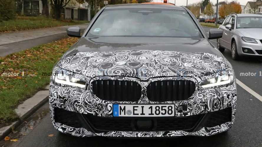 BMW 5 Series M Sport facelift spy photos