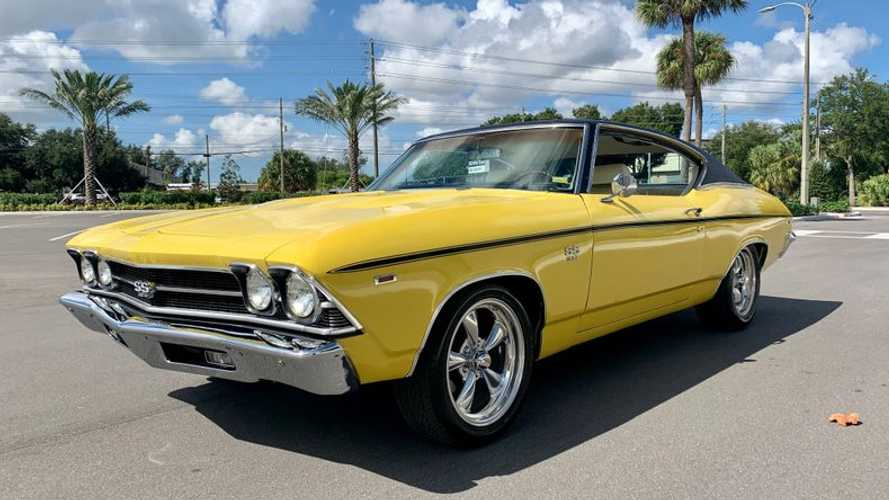 Authentic 1969 Chevrolet Chevelle SS396 Looks Great In Daytona Yellow