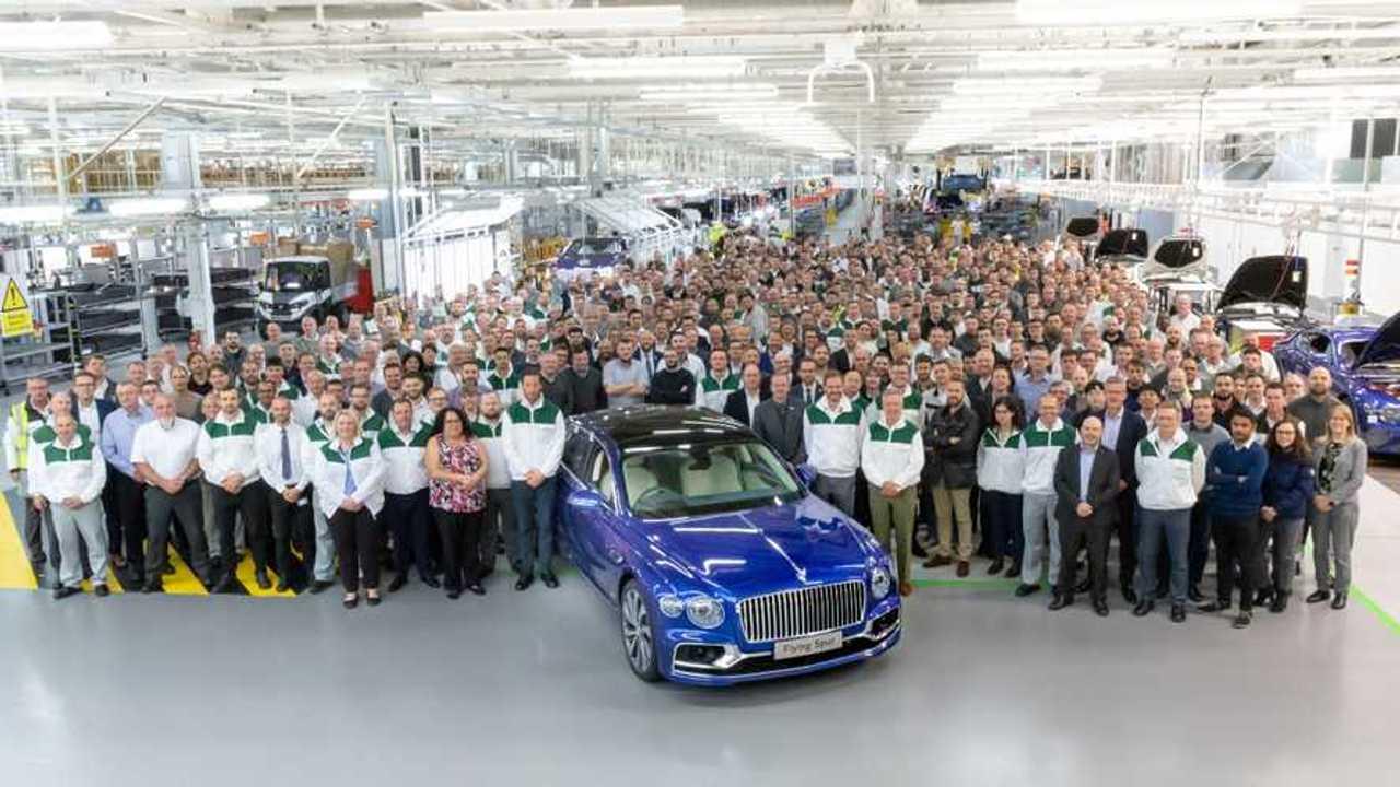 Bentley Flying Spur production gets underway in Crewe