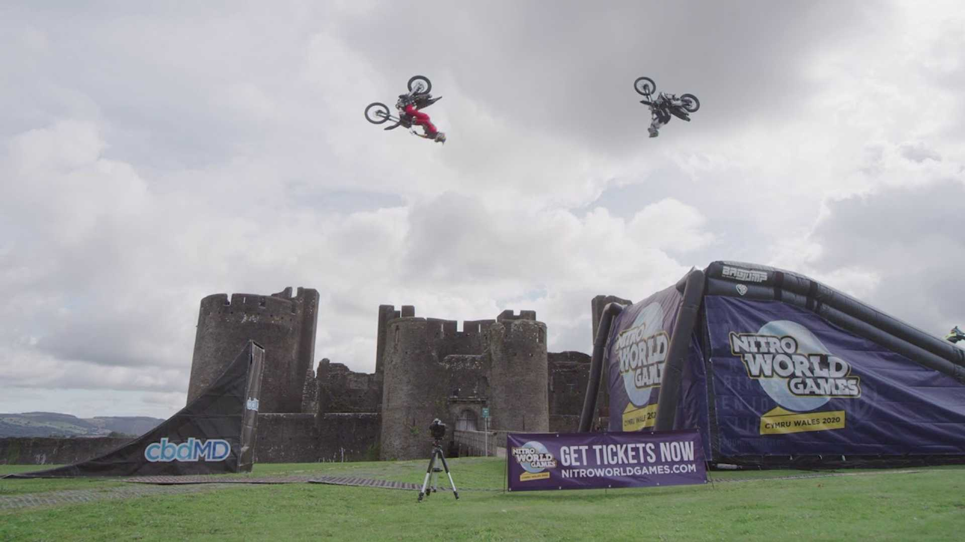 Watch Three World-Class Motocrossers Land Double Backflips Together