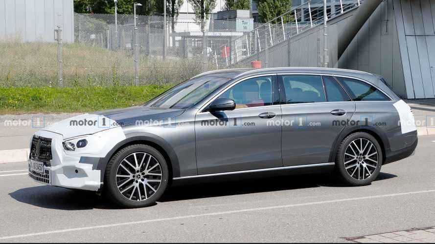 Mercedes E-Class All-Terrain Spied Up Close Hiding Nip And Tuck