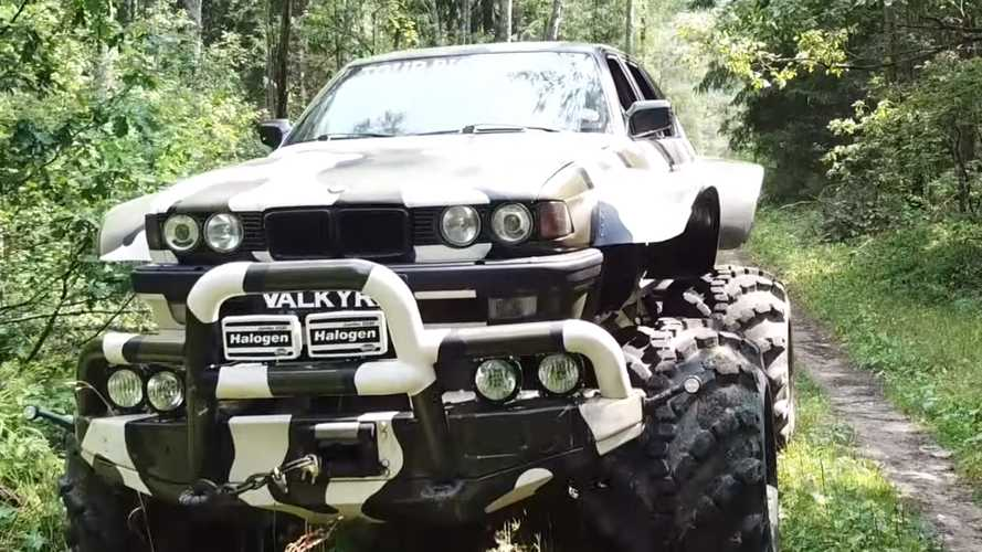 Insane BMW 7 Series monster truck tours the Russian wilderness