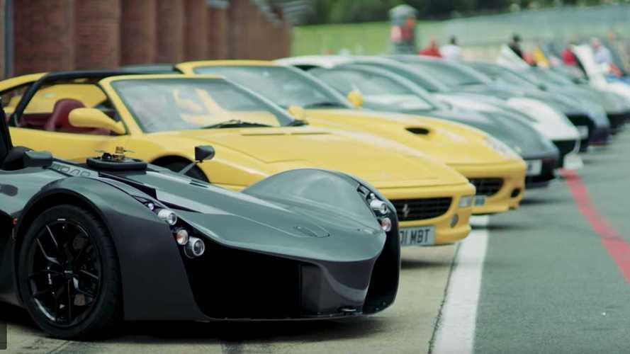 Gordon Ramsey Drives Dozens Of His Insane Cars On Track