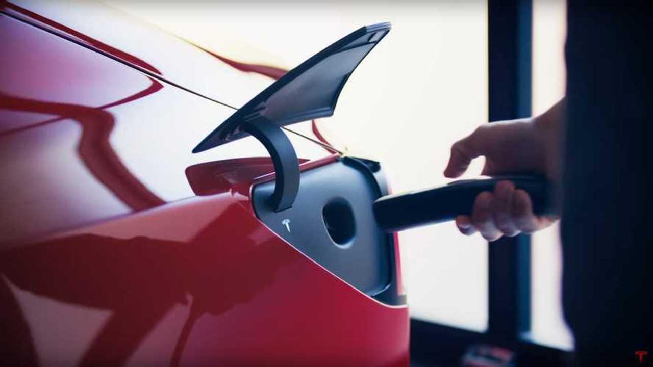 Tesla Model 3 charging