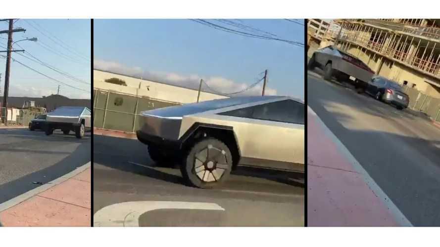 Tesla Cybertruck Spotted In Motion In The Wild: Video