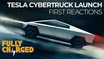 video reactions tesla cybertruck launch