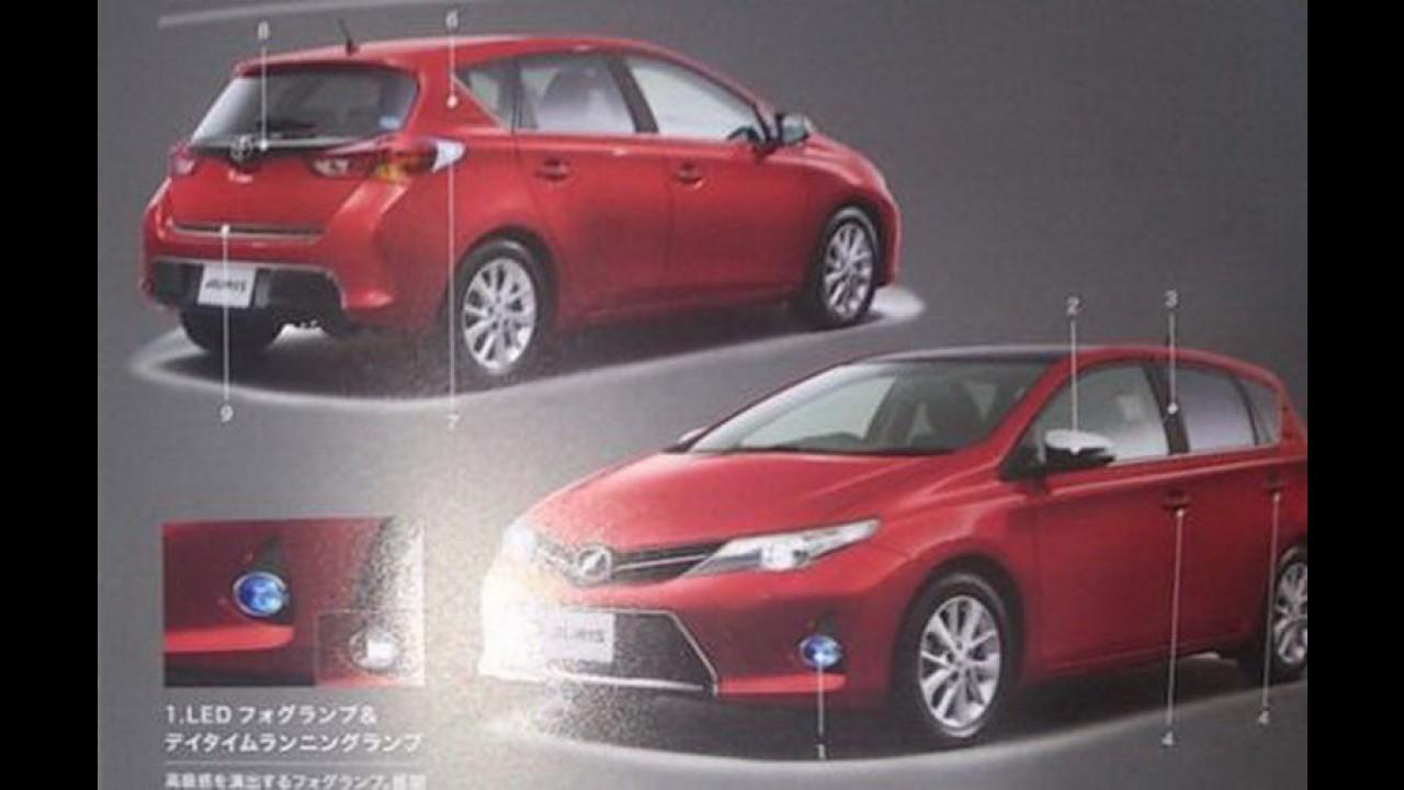 Toyota Auris 2013: Vazam primeiras imagens da nova geração do hatchback japonês