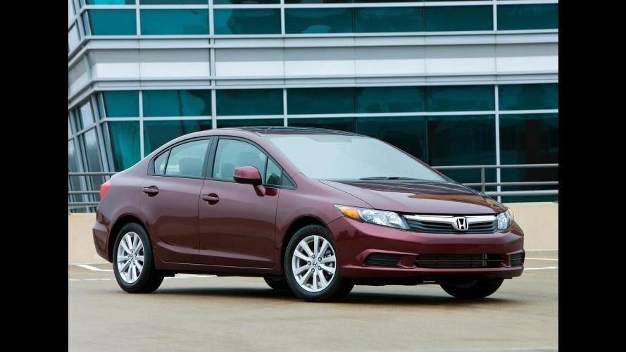 Honda anuncia recall de 50 mil unidades do sedã Civic na América do Norte
