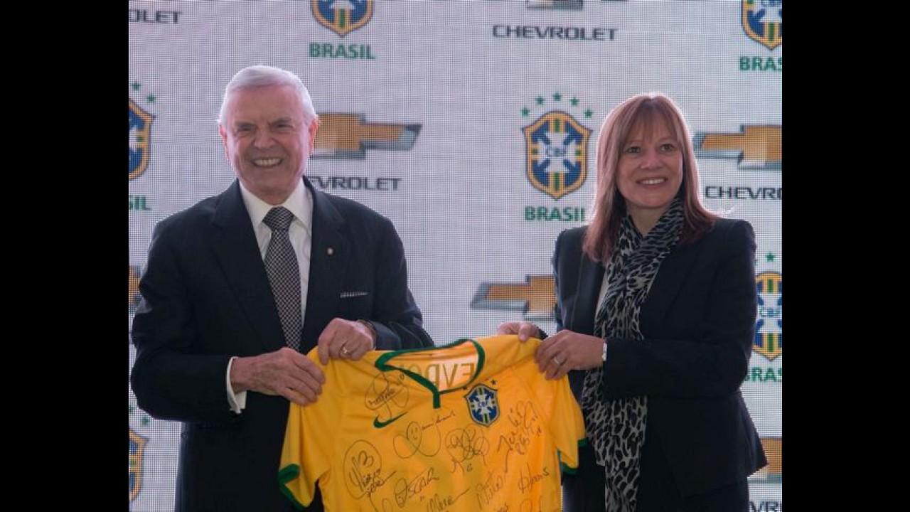 Chevrolet é a nova patrocinadora da seleção brasileira de futebol