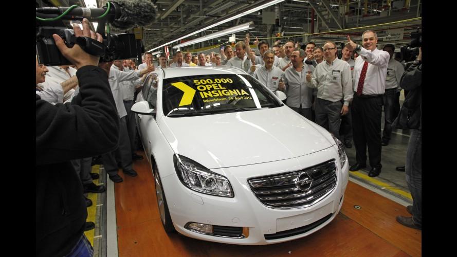 Opel comemora produção de 500 mil unidades do modelo Insignia