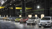 11 generations of Opel compact models