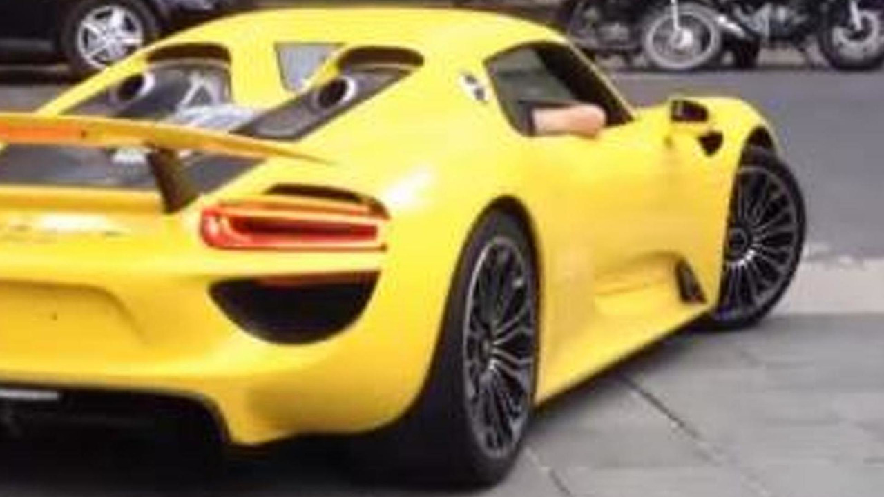 Porsche 918 Spyder with Racing Yellow paint