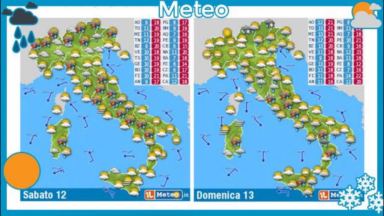 [Copertina] - Previsioni meteo 12 e 13 aprile: ancora pioggia e pneumatici invernali