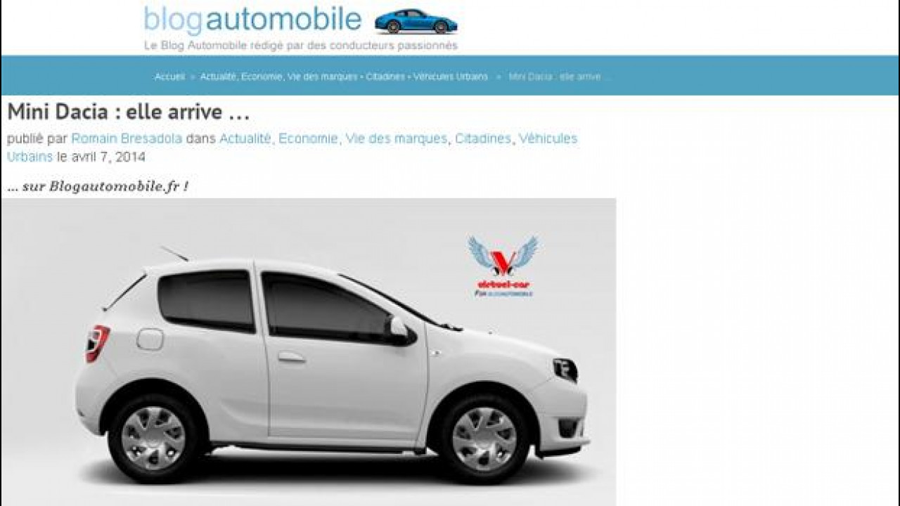 """[Copertina] - """"Mini Dacia"""", in arrivo una super utilitaria low cost"""