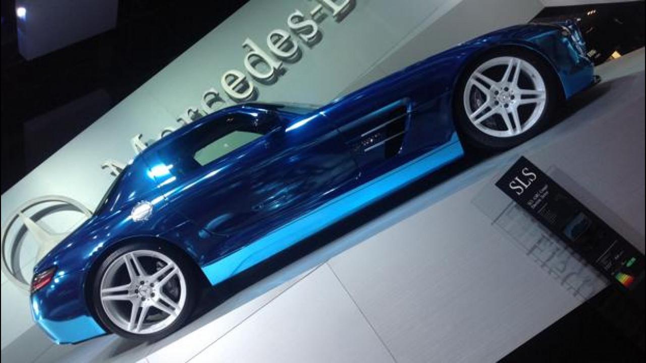 [Copertina] - Salone di Parigi: SLS AMG Coupé Electric Drive, la supercar eco-compatibile esiste