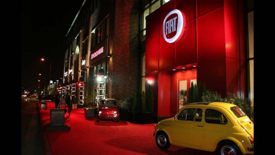 La Fiat 500 al Motor Village di Los Angeles