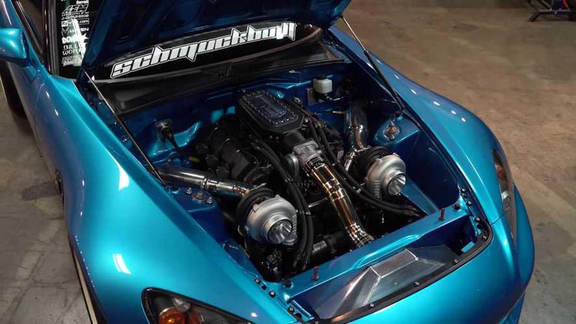 Honda S2000 Packs Twin Turbo Acura V6 Under The Hood