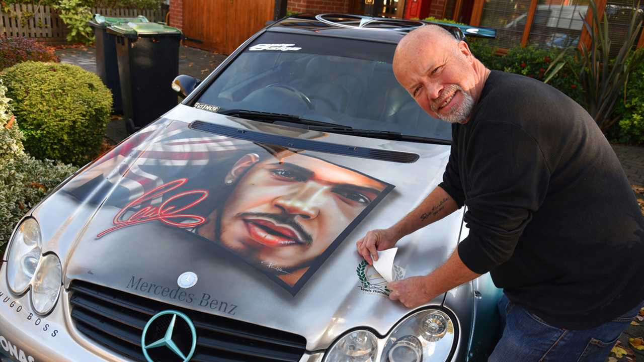 Lewis Hamilton art car