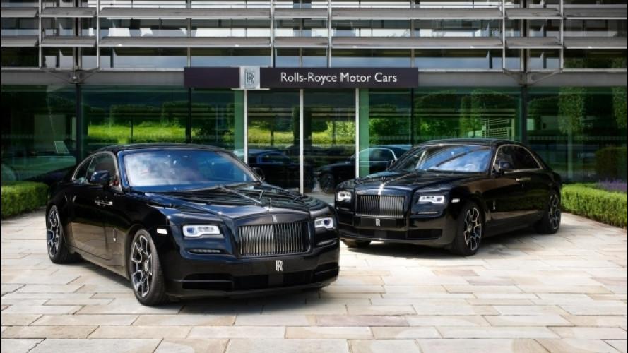 Rolls Royce Black Badge, Ghost e Wraight vestite di nero per Goodwood