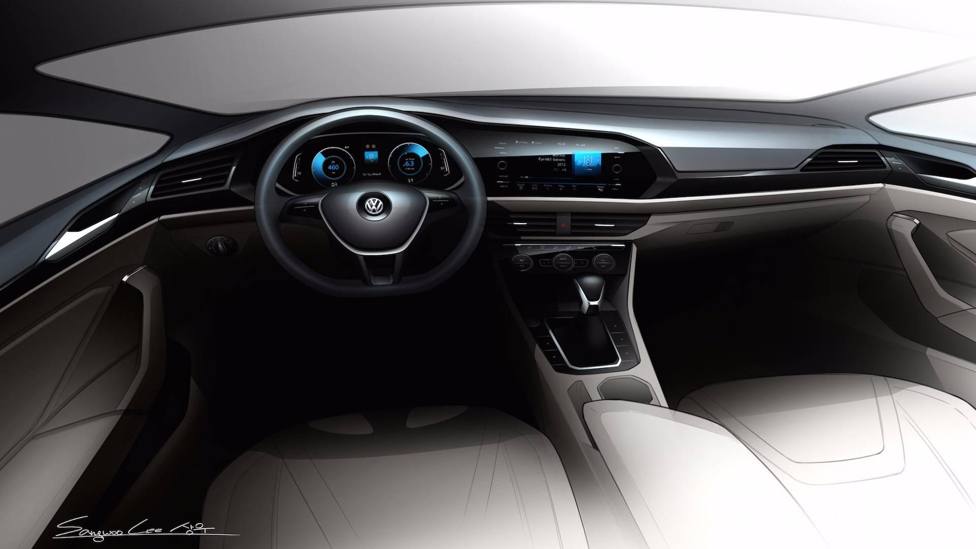 Volkswagen 2018 Jettanın Yeni çizimlerini Paylaştı